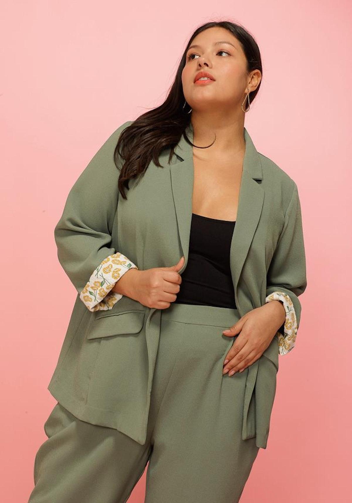 Asoph Plus Size Loose Fit Trendy Blazer