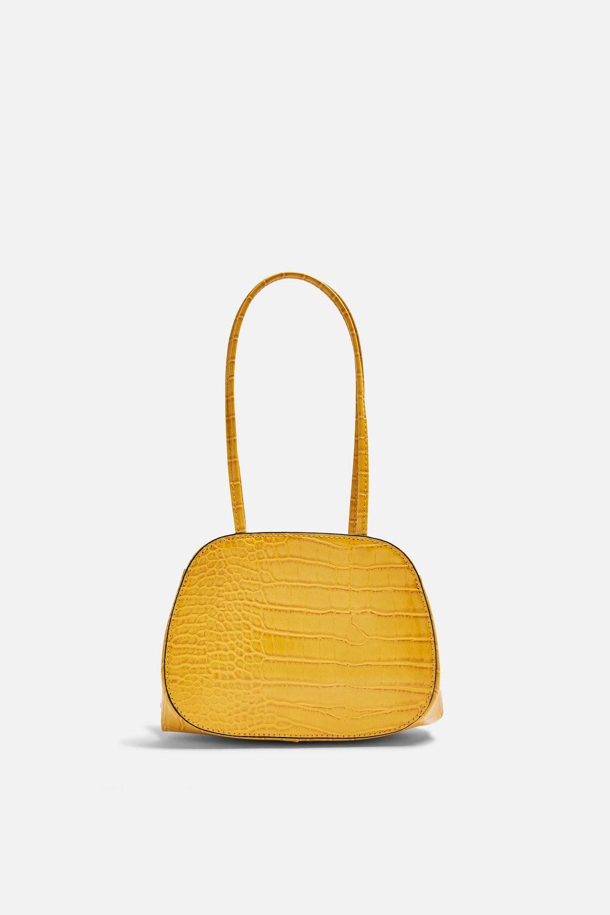 SHINE Yellow Crocodile Mini Shoulder Bag