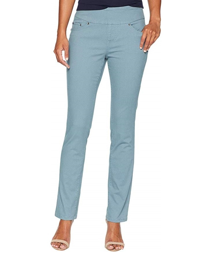 New Simply Be Ladies Pull on Trousers Length 27 inches Plus Size 30 UK Baby blue
