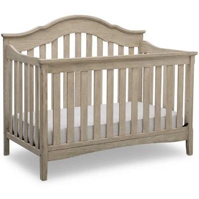 Delta Children Farmhouse 6-in-1 Convertible Crib - Textured Limestone