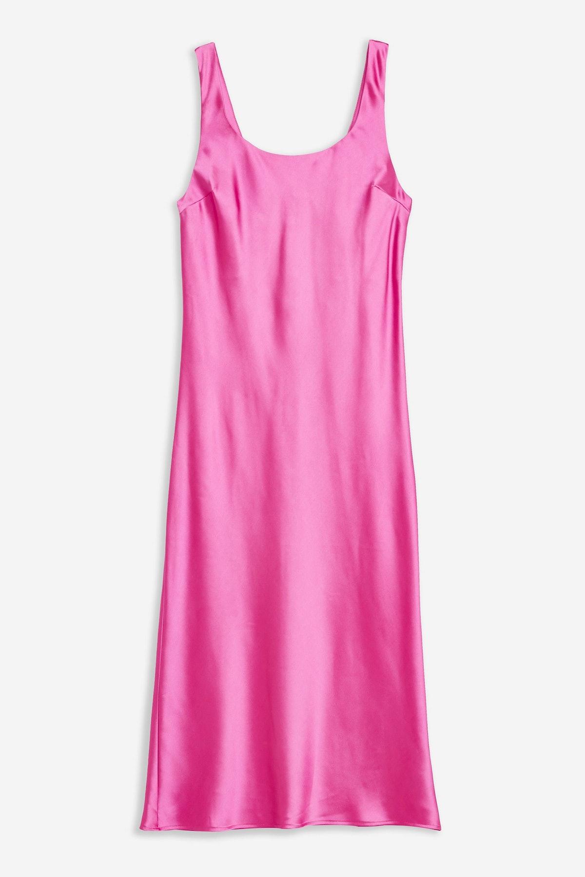 Pink Built Up Slip Dress