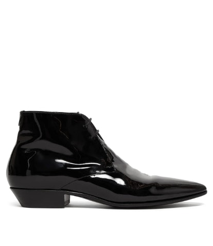 Jonas Patent-Leather Ankle Boots
