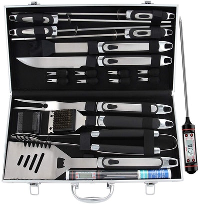 BBQ Grill Accessories Set With Thermometer