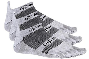 Injinji Run 2.0 Lightweight No-Show Toe Socks (3 Pack)