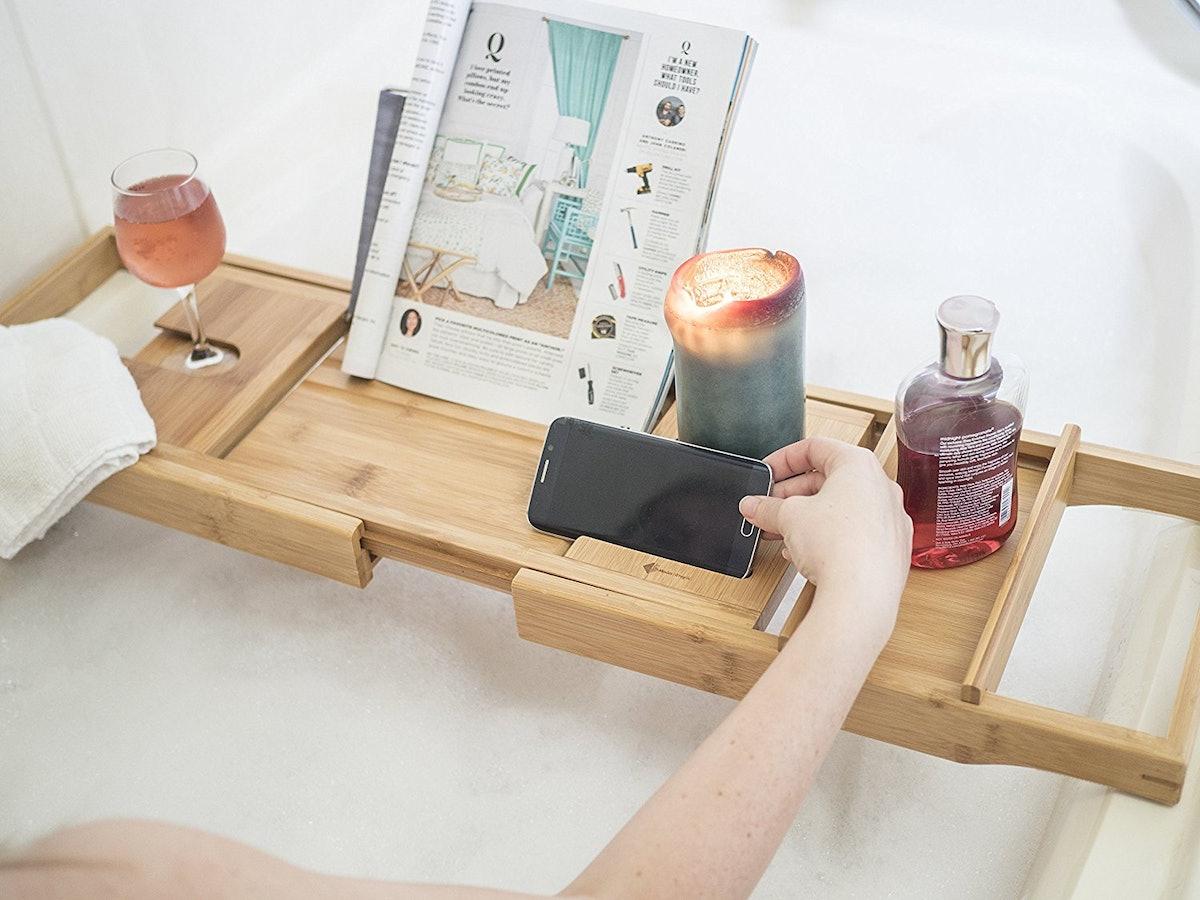ModernTropic Bamboo Bath Caddy
