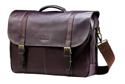 Colombian Leather Flap-Over Messenger Bag