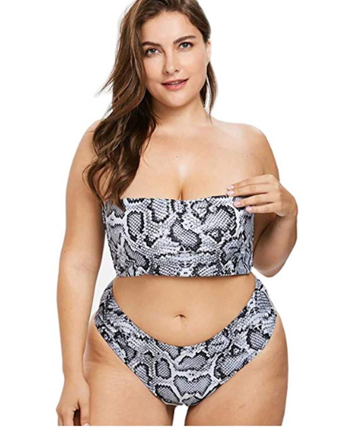 Yii ouneey Women Plus Size Swimwear