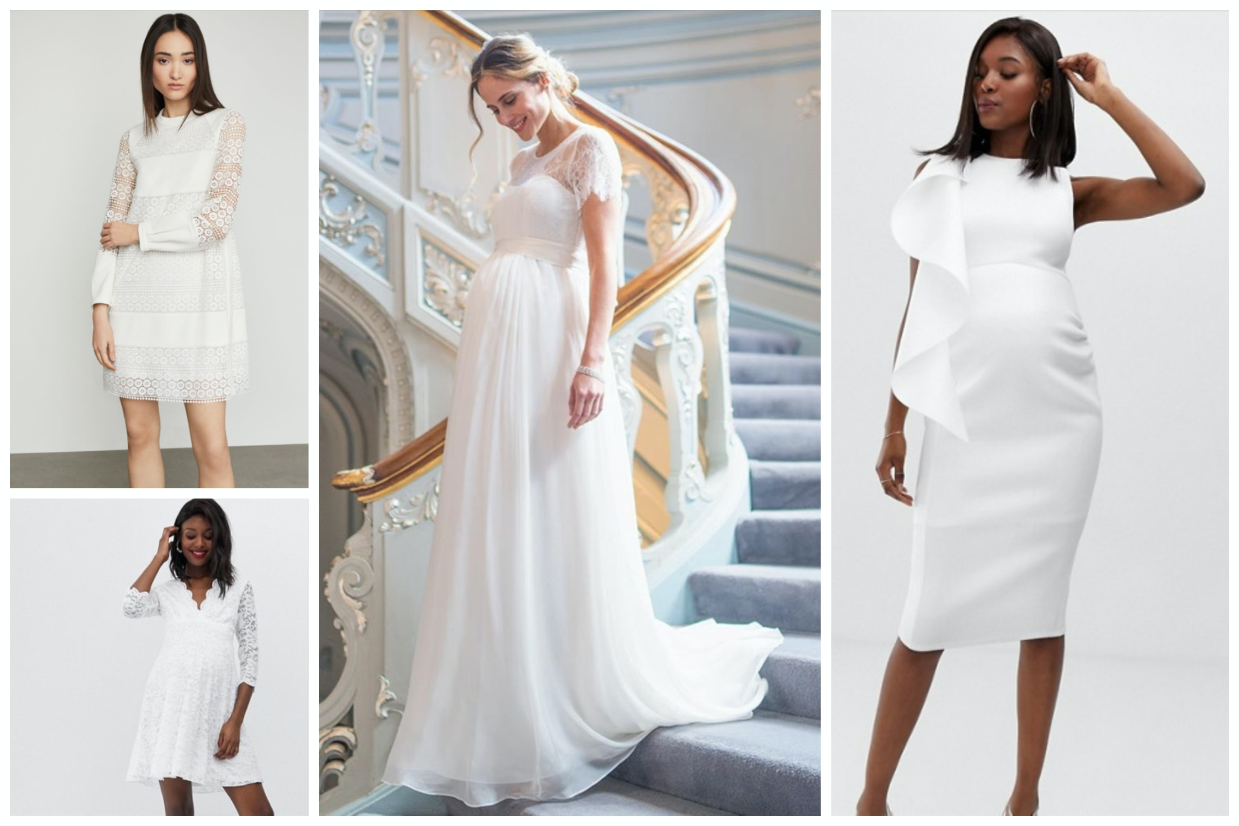15 Wedding Dresses For Pregnant Women That Will Make You Glow Even More,Christian Dior Wedding Dress For Sale