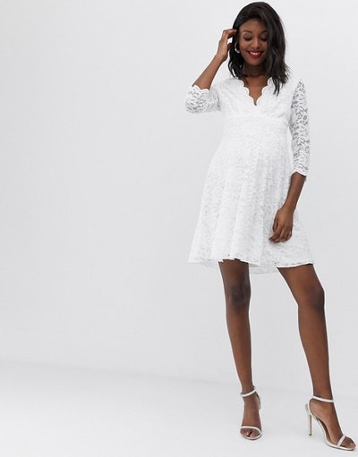 Lace Dress With 3/4 Sleeve