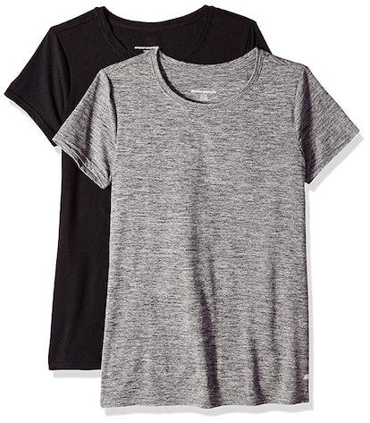 Amazon Essentials Women's Tech Stretch Short-Sleeve Crewneck T-Shirt (2-Pack)