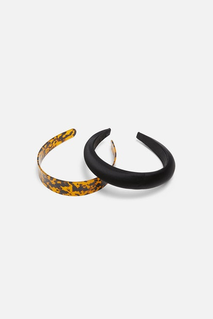 Two-Pack of Tortoiseshell and Satin Effect Headbands