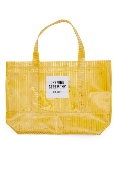 Opening Ceremony Large Striped PVC Tote