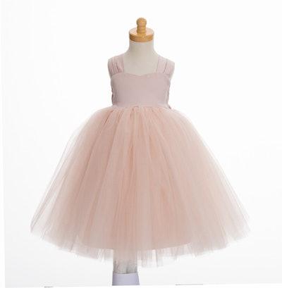 Blush Pink Flower Girl Dress