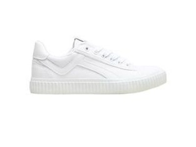 Selected Femme Canvas Sneaker With Ribbed Sole