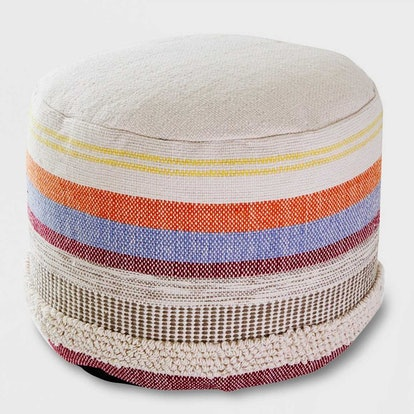 Opalhouse for Target Woven Stripe Outdoor Pouf