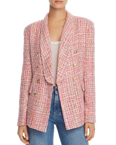 Tweed Double Breasted Blazer