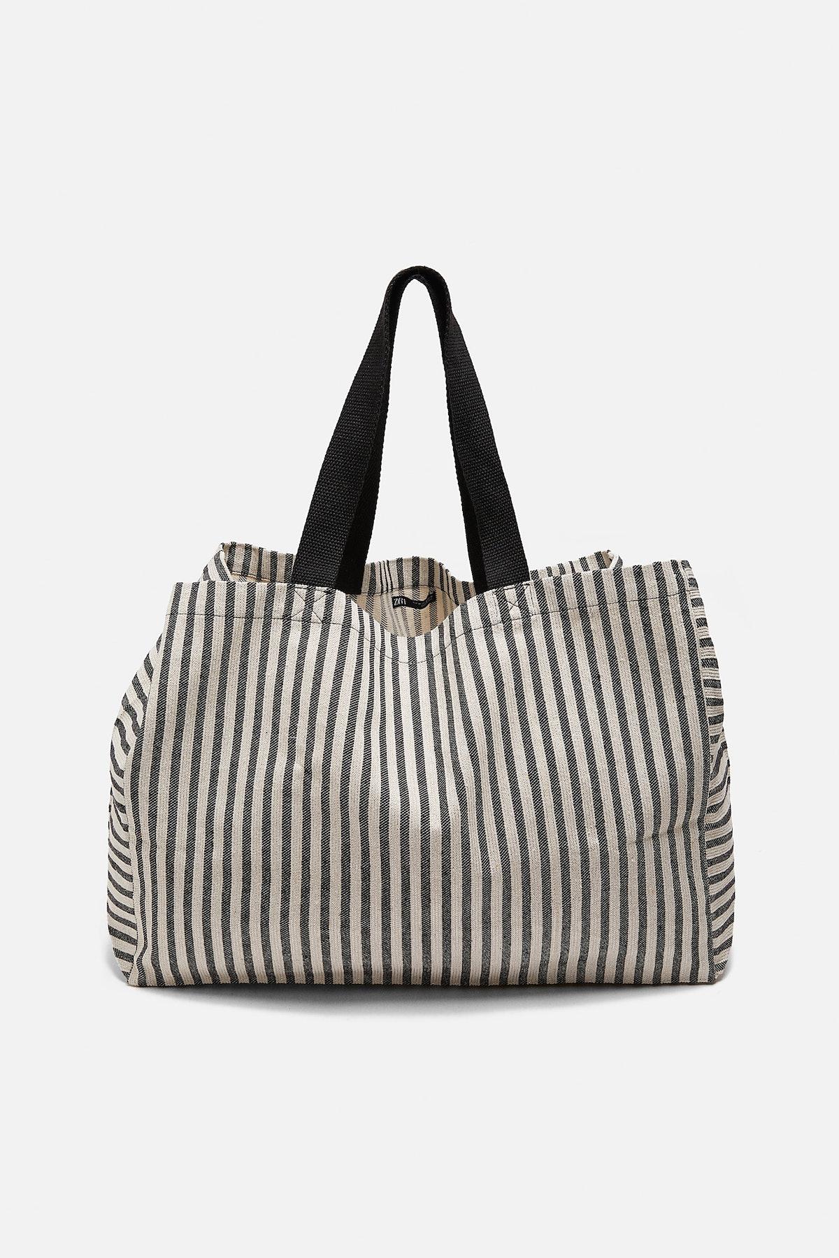 Striped Shopper Bag