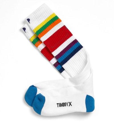 Rainbow Knee-High Socks