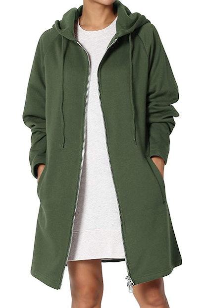 TheMogan Basic Loose Fit Pocket Pullover Hoodie