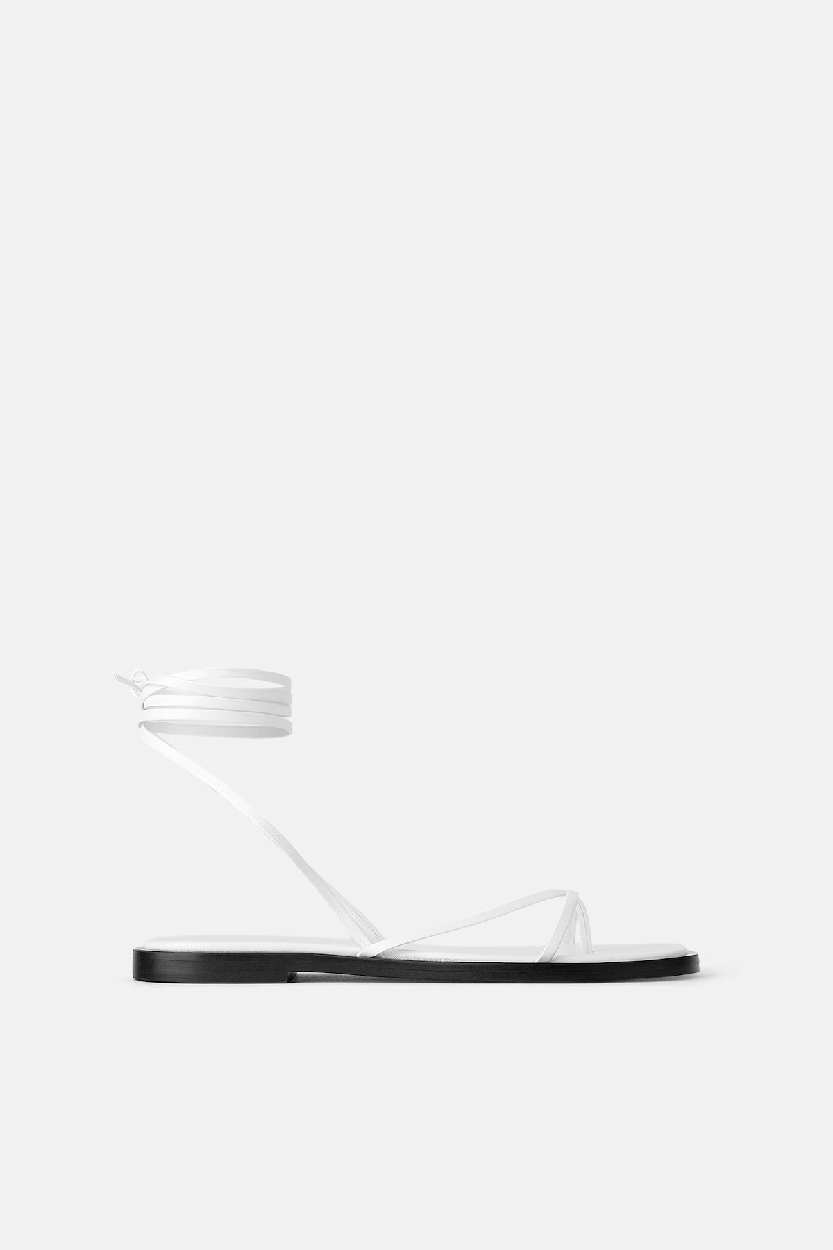 JOIN LIFE FLAT LEATHER SANDALS