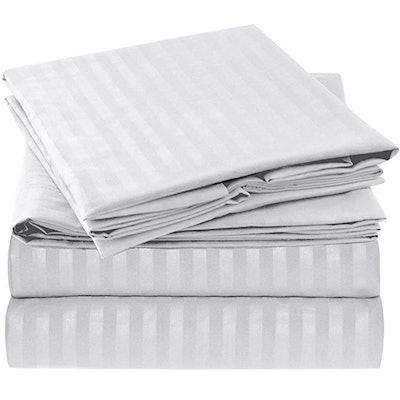 Mellanni Striped Bed Sheet Set