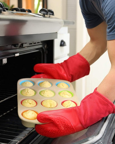 HOMWE Silicone Oven Mitts (1 Pair)