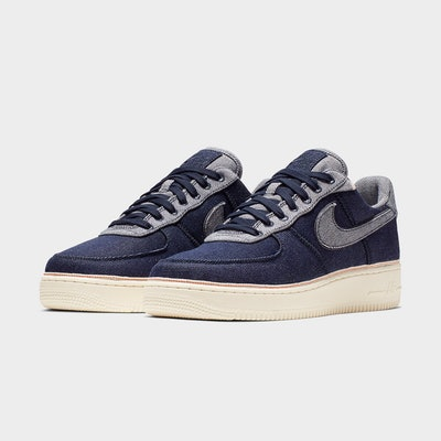 3x1 Nike Air Force 1 Sneaker Collaboration - Raw Indigo Selvedge