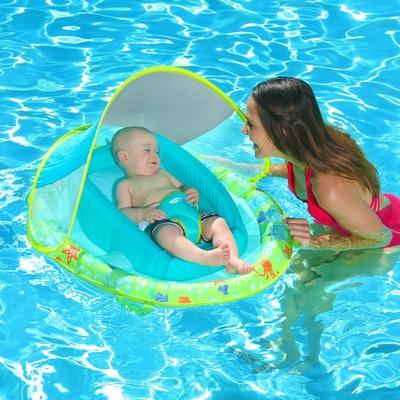 Infant Baby Spring Float With Sun Canopy