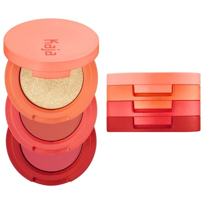 Kaja Beauty Bento Bouncy Shimmer Eyeshadow Trio in Poppy Champagne