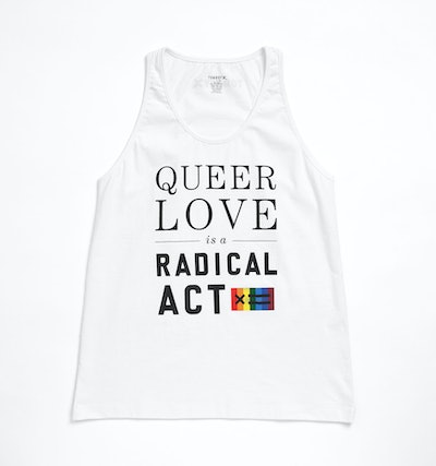 Queer Love Tank Top - White