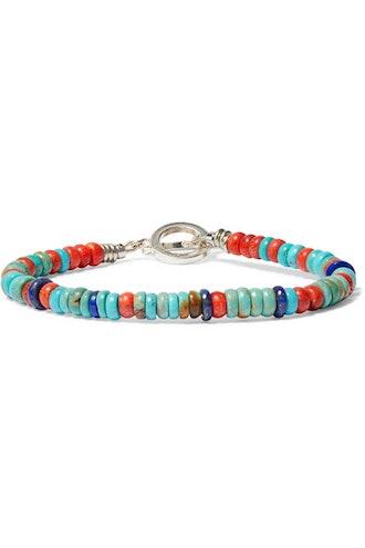 Mikia Silver-Tone Multi-Stone Bracelet