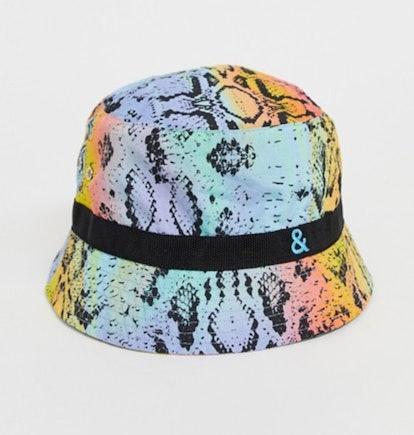 ASOS DESIGN x glaad& unisex python print bucket hat