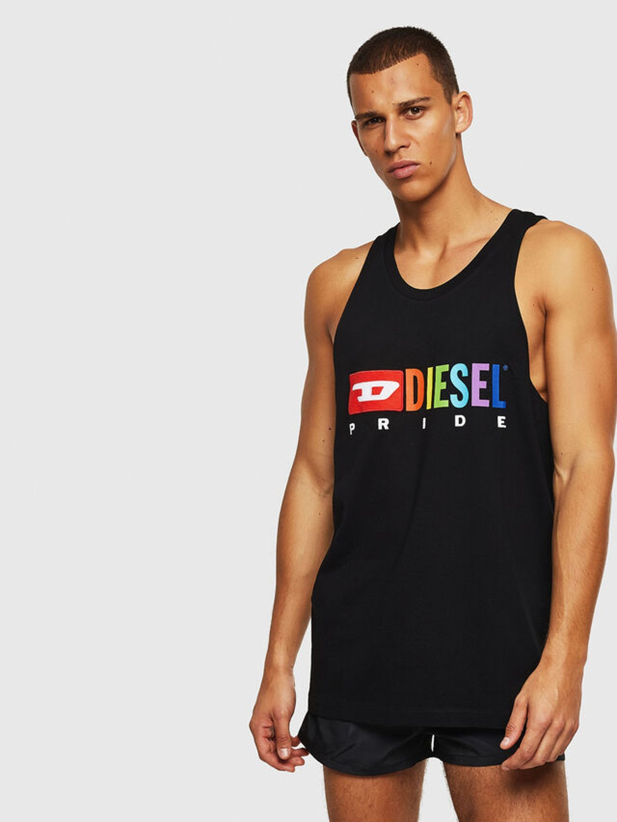 Cotton tank top with Pride logo