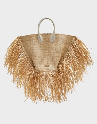 Baci Woven Bag in Beige