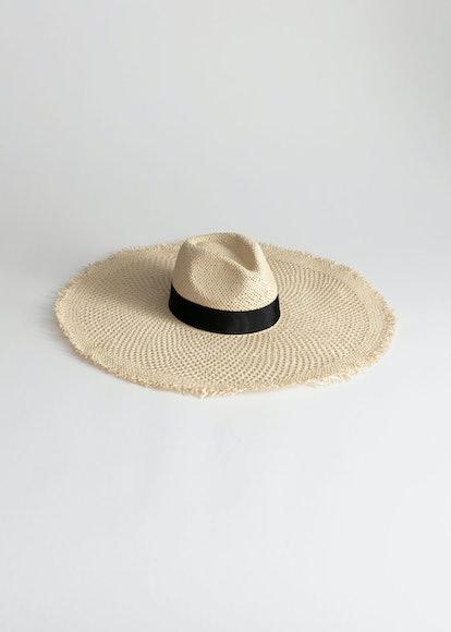 Raw Edge Straw Hat