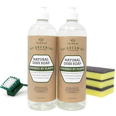 TriNova Natural Dish Soap (2 Pack)