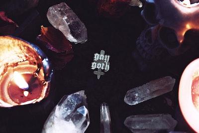 Gay Goth Enamel Pin