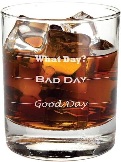 Good Day, Bad Day Rocks Glass