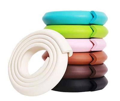 M2cbridge L Shape Extra Thick Furniture Table Edge Protectors Foam Baby Safety Bumper Guard