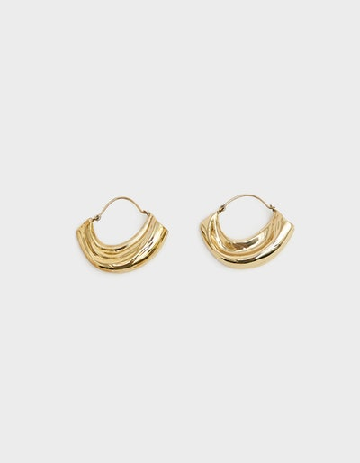 Arturo Textured Hoop Earrings