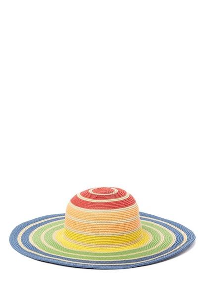 August Hat Colorblock Stripe Floppy Hat