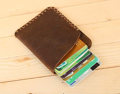 Handmade High Quality Leather Front Pocket Simple Card Pack