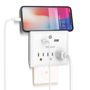 TESSAN Multi-Plug Night Light Outlet