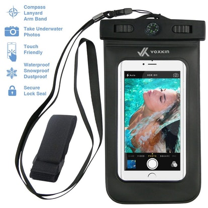 VK Voxkin Premium Quality Universal Waterproof Case with Armband, Compass, Lanyard