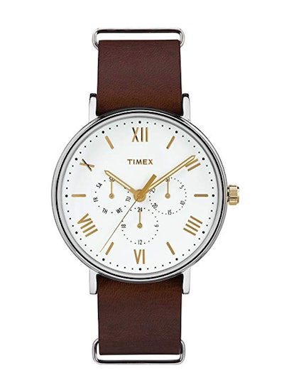 Southview 41mm Multifunction Leather Strap Watch