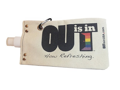 OUT Is In Canvas Water Tote