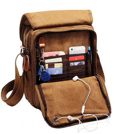 Vintage Multifunction Canvas Shoulder Bag