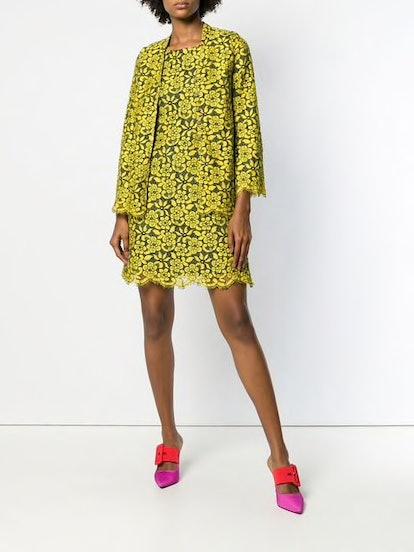 Floral Lace Dress & Jacket