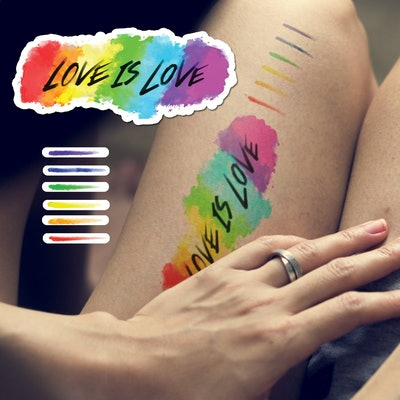 Love Is Love Pride Temporary Tattoo Set