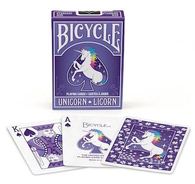 Unicorn Purple Bicycle Standard Poker Playing Cards
